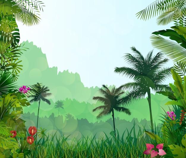 Arrière-plan tropical exotique