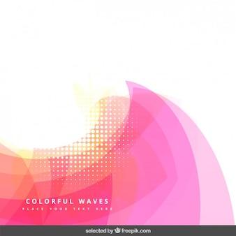 Arrière-plan avec vagues abstraites