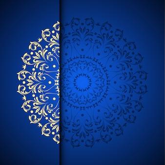 Arrière-plan de vecteur or arabesque oriental avec place pour le texte