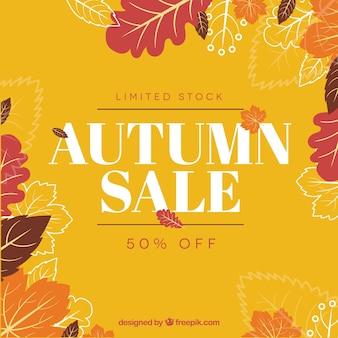 Arrière-plan de vente automne