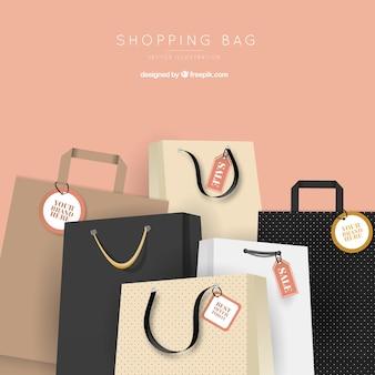 Arrière-plan de vente des sacs élégants