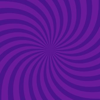 Arrière-plan violet vif tourbillonnant radial. illustration vectorielle pour la conception de tourbillons. carré de tourbillon en spirale en étoile vortex. rayons de rotation d'hélice. rayures évolutives. faisceaux de lumière du soleil amusants.