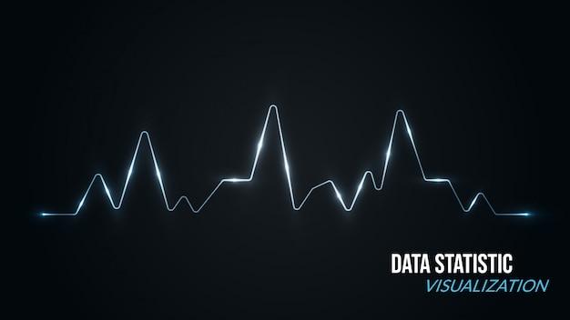 Arrière-plan de visualisation de données avec style de spectre