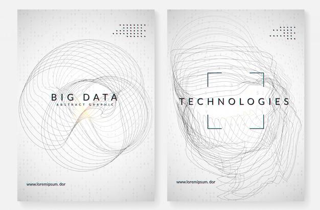 Arrière-plan de visualisation. technologie pour le big data, artificielle dans