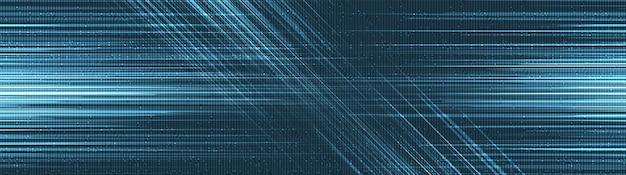Arrière-plan de vitesse virtuelle, conception de concept d'onde sonore et numérique de haute technologie, espace libre pour le texte en entrée, illustration vectorielle.