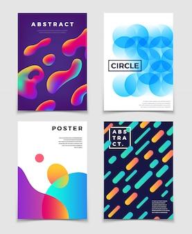 Arrière-plans abstraits colorés modernes ou couverture avec des formes dynamiques.
