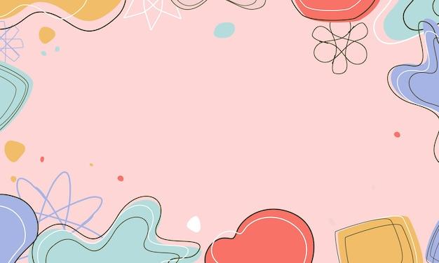 Arrière-plans abstraits fond pastel abstrait fond tendance moderne style memphis