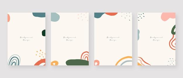 Arrière-plans abstraits de memphis avec espace de copie pour le texte