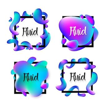Arrière-plans de bannière de vente de fluide abstrait bleu