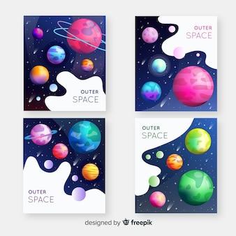 Arrière-plans colorés de l'espace