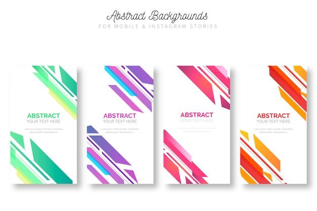 Arrière-plans colorés pour les histoires mobiles et instagram
