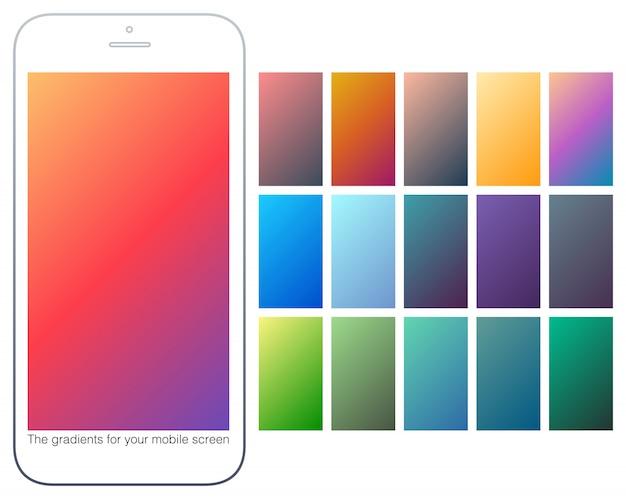 Arrière-plans dégradés de couleurs douces