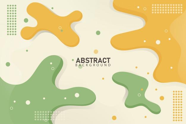 Les arrière-plans de flux abstraits forment une douce couleur orange et verte
