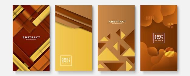 Arrière-plans géométriques sertis de motifs dégradés de couleurs abstraites modernes. collection de modèles lisses pour brochures, affiches, bannières, dépliants et cartes. illustration vectorielle.