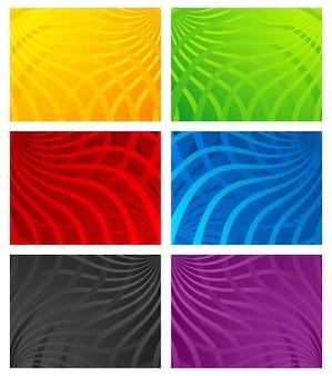 Arrière-plans de ligne ondulée coloré