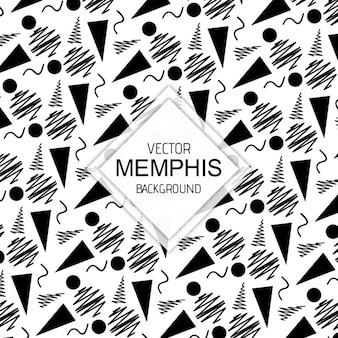 Arrière-plans de memphis noir et blanc