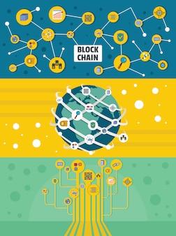 Arrière-plans de mineurs blockchain