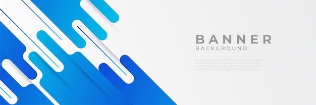 Arrière-plans de modèle de conception de bannière web horizontale bleu moderne abstrait