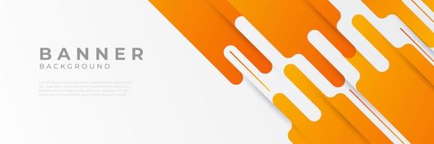 Arrière-plans de modèle de conception de bannière web horizontale orange moderne abstrait