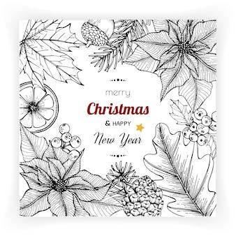 Arrière-plans de noël et du nouvel an et carte de voeux.