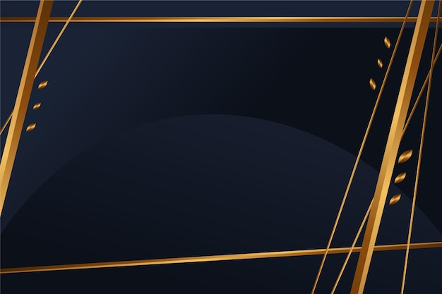 Arrière-plans noirs dégradés avec cadres dorés