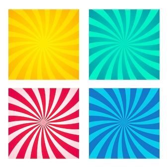 Arrière-plans rayés abstraits avec jeu de rayures blanches