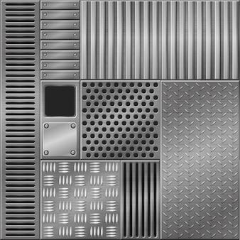 Arrière-plans texturés métalliques