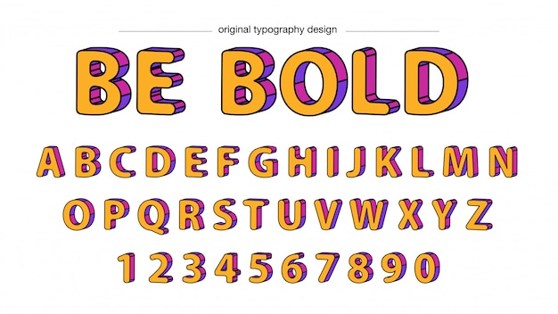 Arrondi jaune gras typographie design