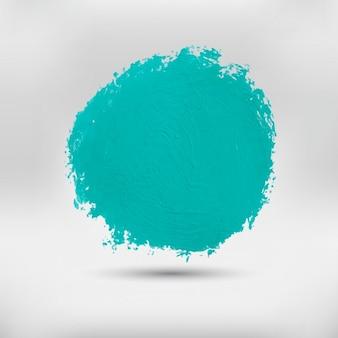 Arrondi vert aquarelle tache
