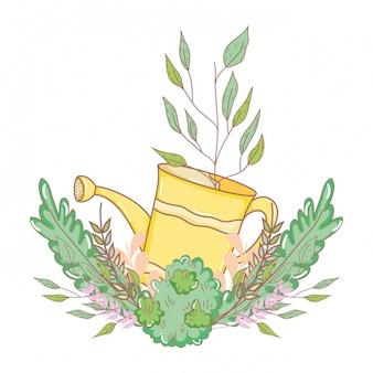 Arroseur de douche jardinier avec feuilles