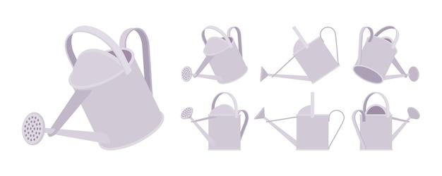 Arrosoir de couleur grise