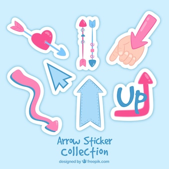 Arrow stickers with lovely style