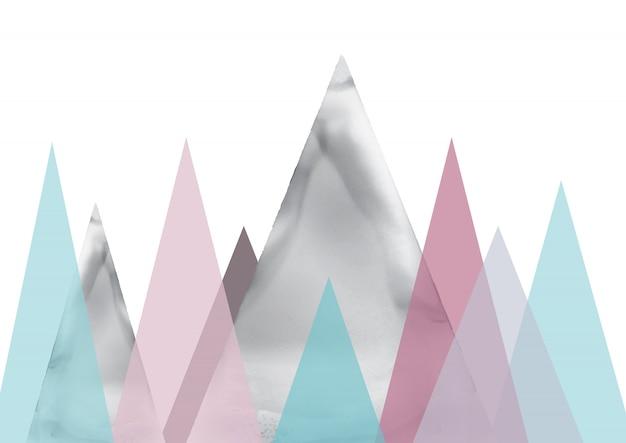 Art abstrait de paysage scandinave