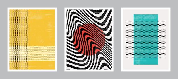 Art de l'affiche moderne. collection de jeu.