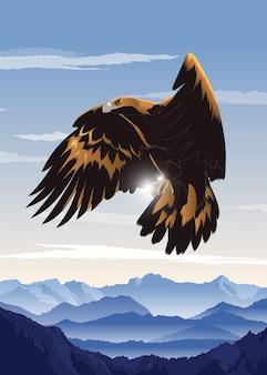 Art de l'aigle volant