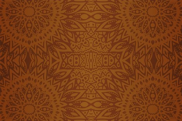 Art brun avec motif floral géométrique sans soudure