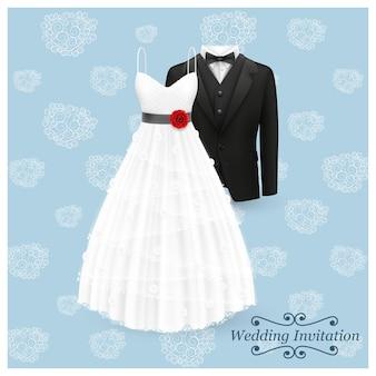 Art de carte d'invitation de mariage. fond d'illustration vectorielle