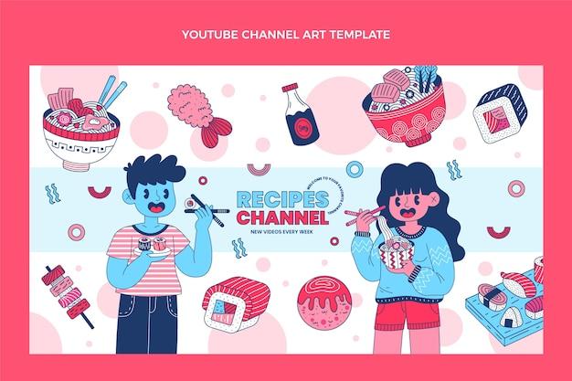 Art de la chaîne youtube alimentaire design plat