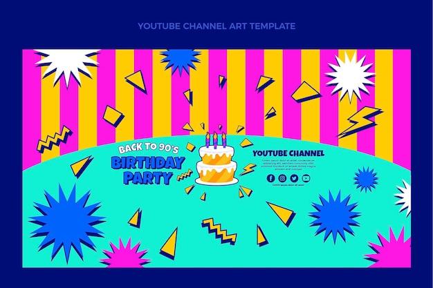 Art de la chaîne youtube anniversaire des années 90 dessiné à la main
