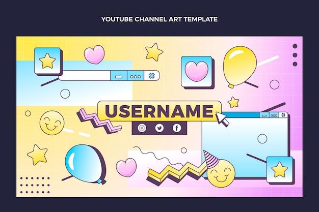 Art de la chaîne youtube anniversaire vaporwave rétro dégradé