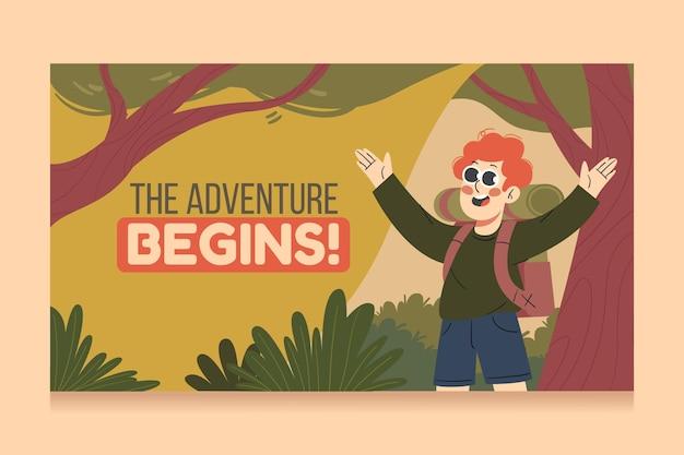 Art de la chaîne youtube aventure dessinée à la main