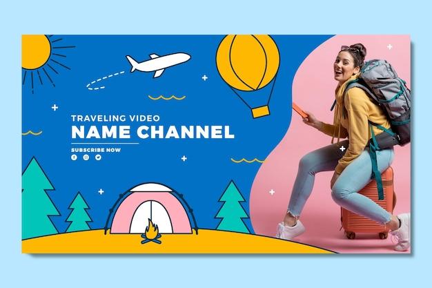Art de la chaîne youtube aventure plat linéaire
