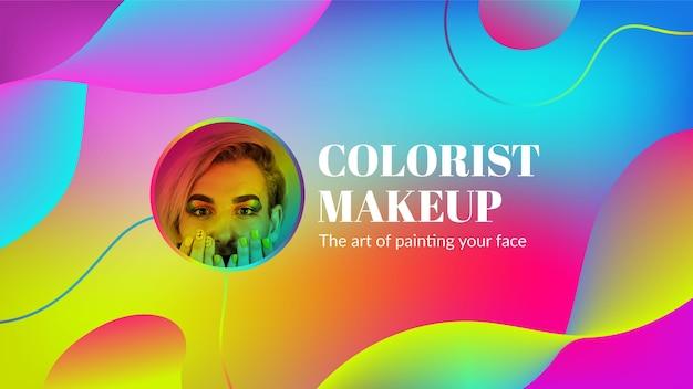 Art de la chaîne youtube de beauté dégradée