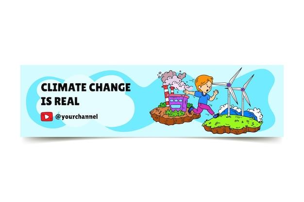 Art de la chaîne youtube sur le changement climatique dessiné à la main