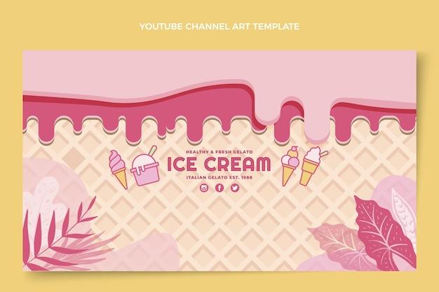 Art de la chaîne youtube de délicieuses glaces plates