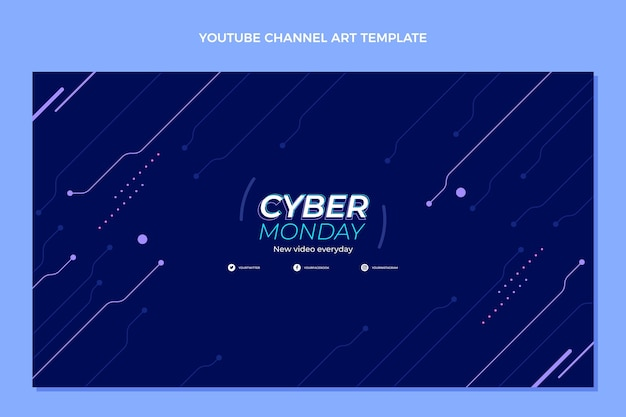 Art de la chaîne youtube du cyber lundi à plat
