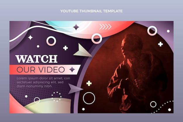 Art de la chaîne youtube du festival de musique coloré dégradé