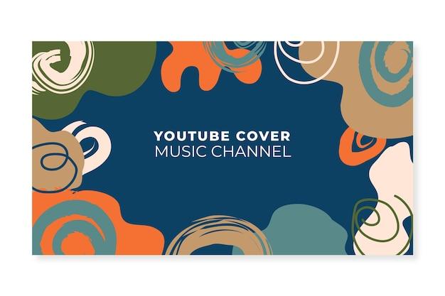 Art de la chaîne youtube de formes abstraites dessinées à la main