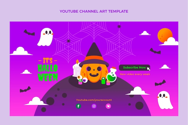 Art de la chaîne youtube d'halloween dégradé