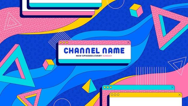 Art de la chaîne youtube de jeu créatif